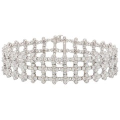 Tiffany & Co. Platinum 7.00 Carats Diamonds Lace Bracelet