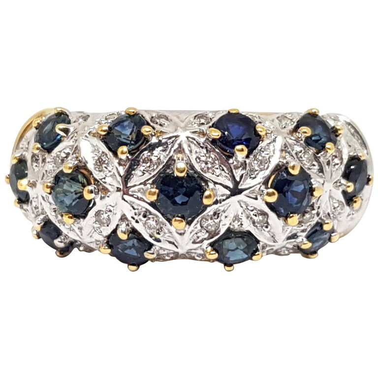 Diamond Sapphire Gold Ring