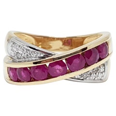 Diamond Ruby Gold Ring