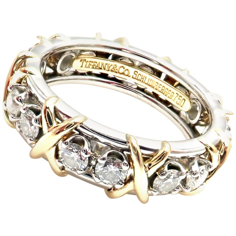 Tiffany & Co. Jean Schlumberger Diamond Yellow Gold and Platinum Band Ring
