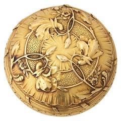 Art Nouveau Gold Compact by Boucheron