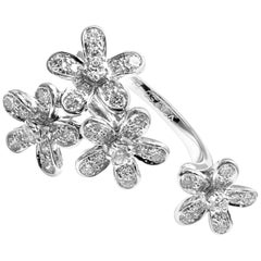 Van Cleef & Arpels Socrate Diamond between the Finger Ring White Gold Ring