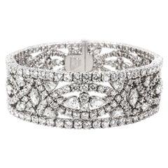Tiffany & Co. Diamond Clover Bracelet in Platinum 30.20 CTW