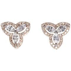 Marquise Diamond Studs in 18 Karat Rose Gold