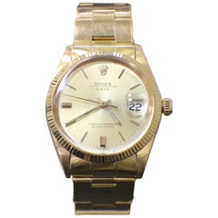 Vintage Rolex Date 1501 18 Karat Yellow Gold 1965 Original Polish Collectible