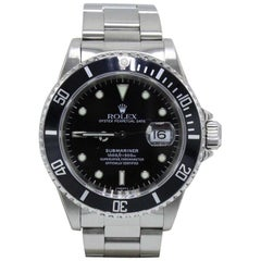 Rolex Submariner Date 16610 Black Stainless Steel Box and Papers