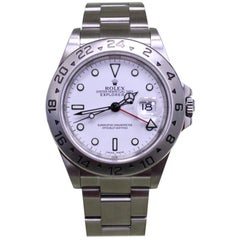 Rolex Explorer II 16570 Stainless Steel White Dial Box and Papers