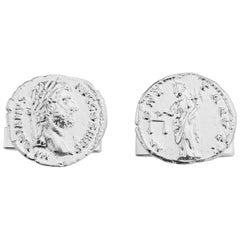 Emperor Hadrian Cufflinks in Sterling Silver