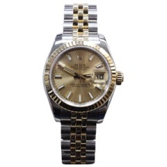 2016 Rolex 179173 Ladies 18 Karat Gold and Stainless Steel Box and Papers