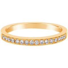 0.17 Carat Diamond Milgrain Half-Way Wedding Band