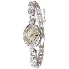 Longines Ladies Diamond Watch 14 Karat .50 Carat Natural Diamonds