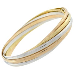 Cartier Three-Tone Gold Bangle Bracelet