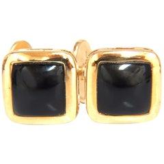 14 Karat Men's Jet Black Onyx Cufflinks
