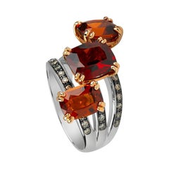 Zorab Creation Spessartite Garnet Triplet Harvest Ring