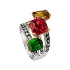 Zorab Creation Tri-Tourmaline Kaleidoscope Ring