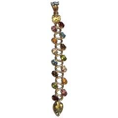 Multi-Color Stone Pendant