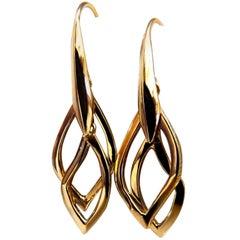 Albert Bossi 18 Karat 3-Tier Dangle Earrings