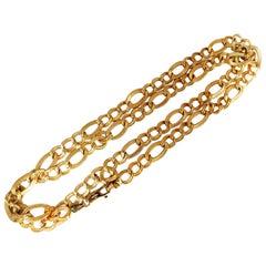 14 Karat Gold Mod Curb Link Necklace