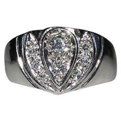1.00 Carat Diamond Cluster Ring 14 Karat H-Vs2 French Pave A++