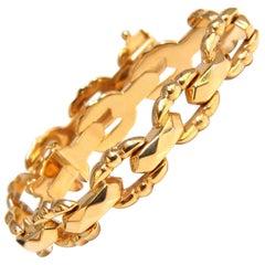 14 Karat Gold Mod Byzantine Link Bracelet