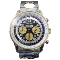 Breitling Navitimer Cosmonaute D22322 Limited Edition 18 Karat Gold and Steel