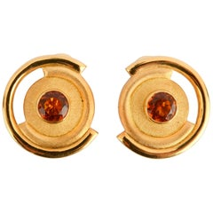 Bruno Guidi Gold Citrine Earrings