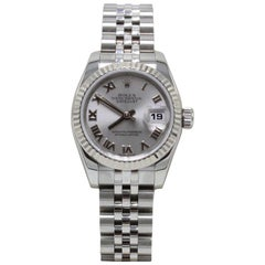 Rolex Ladies Datejust 179174 Stainless Steel & 18K Gold Bezel Box & Papers