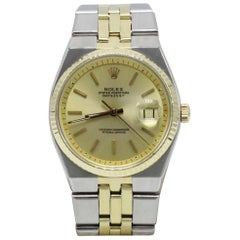 Rolex Datejust Automatic 1630 Very Rare 18 Karat Yellow Gold and Stainless Steel