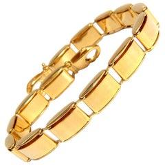 14 Karat, Gold Box Link High Shine Bracelet