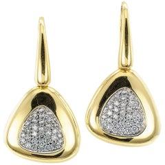 Roberto Coin Capri Plus Diamond Gold Earrings