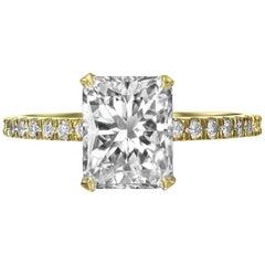 2.39 Carat Radiant Cut Diamond Engagement Ring