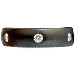 .65 Carat Diamond Eternity Ring Brushed Blackened Silver G/VS Unisex