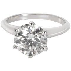 Tiffany & Co. Diamond Solitaire Engagement Ring in Platinum 2.31 Carat