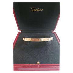 Cartier 18 Carat Yellow Gold Love Cuff Bangle Bracelet