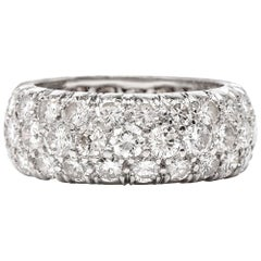 Diamond Cluster Eternity Platinum Band Ring