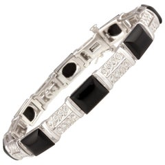 Ella Gafter Diamond and Onyx Bracelet