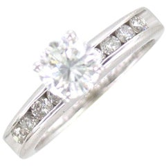 1.08 Carat Round Brilliant Diamond Platinum Engagement Ring GIA Certified