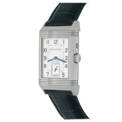 Jaeger-LeCoultre Stainless Steel Reverso Night & Day Manual Wind Wristwatch