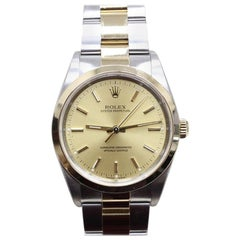 Rolex Oyster Perpetual 14203 18 Karat Gold and Stainless Steel Box and Papers