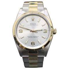 Rolex Oyster Perpetual 18 Karat Gold and Stainless Steel 14203 Arabic Dial