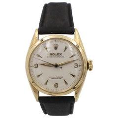 Vintage Rolex Oyster Perpetual 6084 14 Karat Yellow Gold