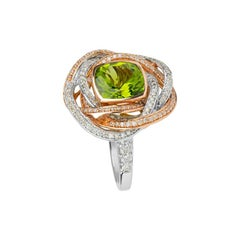 Zorab Creations Peridot Resplendent Rose Ring