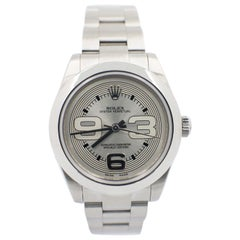 Rolex Midsize 177200 Oyster Perpetual Stainless Steel Silver Dial Box Paper