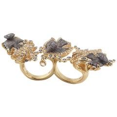 Coomi 20 Karat Gold Antiquity Inca Bird Diamond Ring