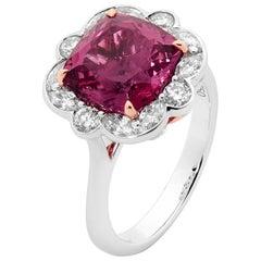 4.58 Carat Tourmaline and Diamond Dress Ring