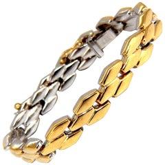 14 Karat Retro Chevron Link Bracelet