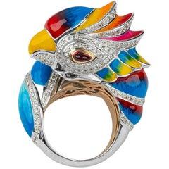 Zorab Creation Multi Gem Diamond The Baby Parrot Ring