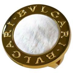 Bvlgari Mother-of-Pearl 18 Karat Yellow Gold Bvlgari Ring