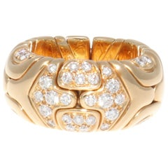 Bulgari Alveare Diamond Gold Band