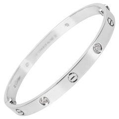 Cartier Diamond Love Bangle in 18 Karat White Gold 0.40 Carat